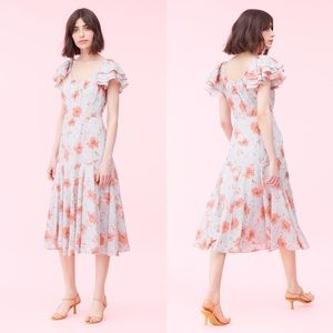 La vie Rebecca Taylor Louise floral midi dress XL